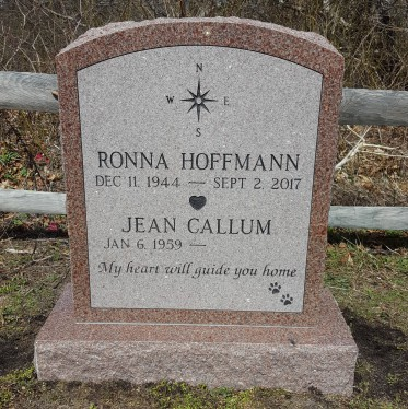 Polished Canadian Pink Granite Upright Cemetery Monument